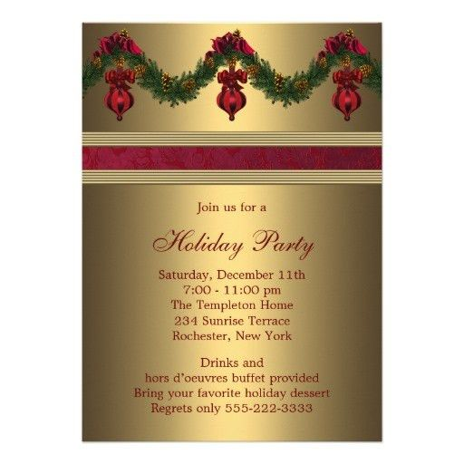 8 Best Images of Corporate Holiday Party Invitation Templates ...