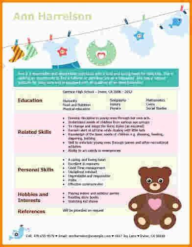 7+ babysitter resume sample | nypd resume