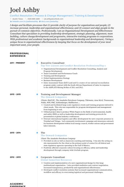 Executive Consultant Resume samples - VisualCV resume samples database