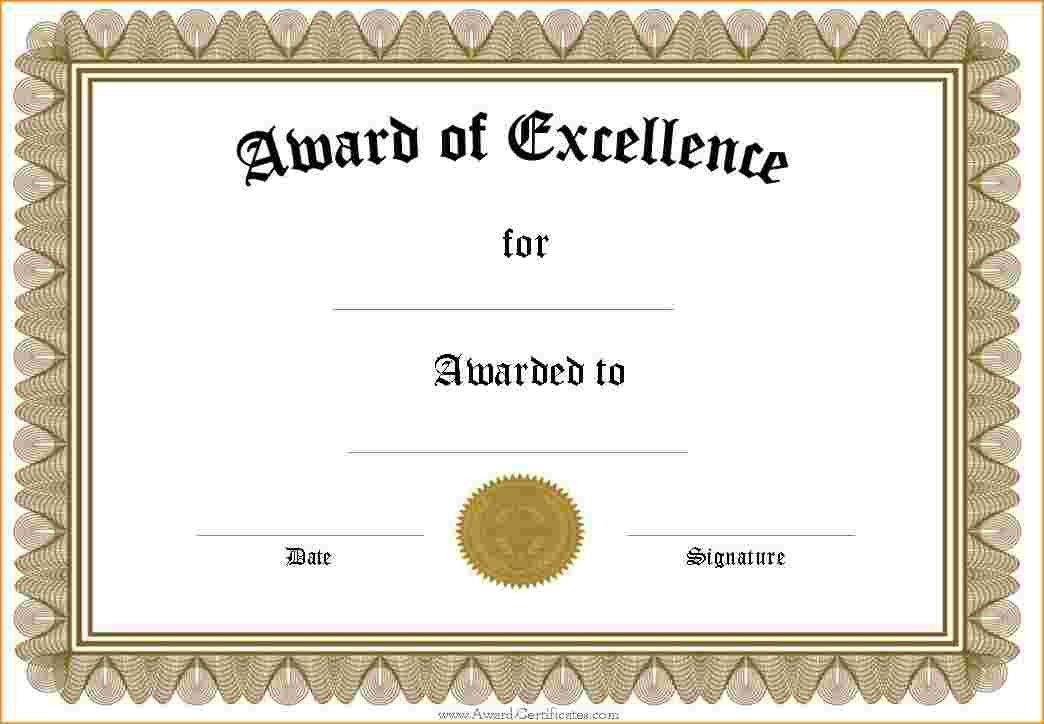 Marvelous Award Certificate Templates.Silver Award Certificate Template.png . And Prize Certificate Template Free