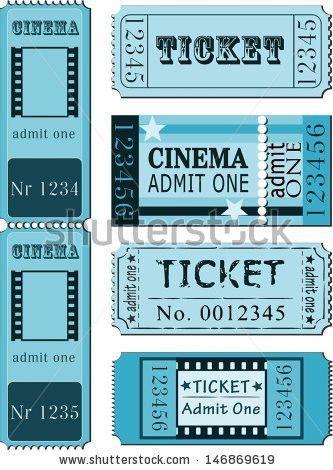 Cinema Admit One Ticket Illustrations Stock Vector 86257492 ...