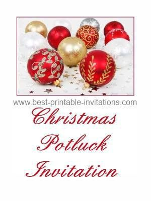 Magnificent Christmas Potluck Invitation Template Free ...