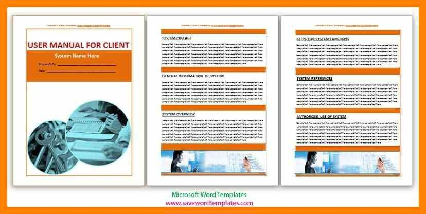 Sample Instruction Manual Template. User Guide Templates Word ...