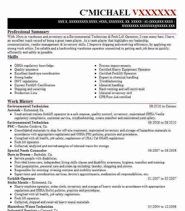 Best Service Technician Resume Example | LiveCareer