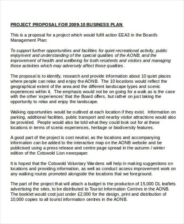 Business Project Proposal Templates - 6+ Free PDF Format Download ...