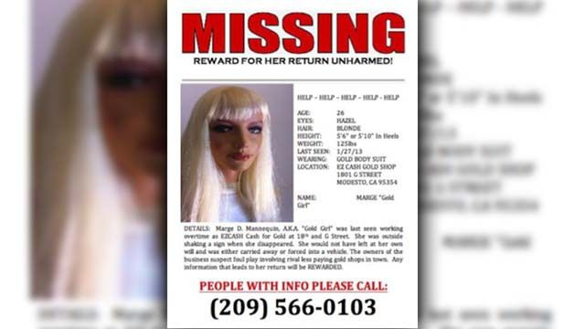 Modesto Business Posts 'Missing Person' Posters For Stolen ...