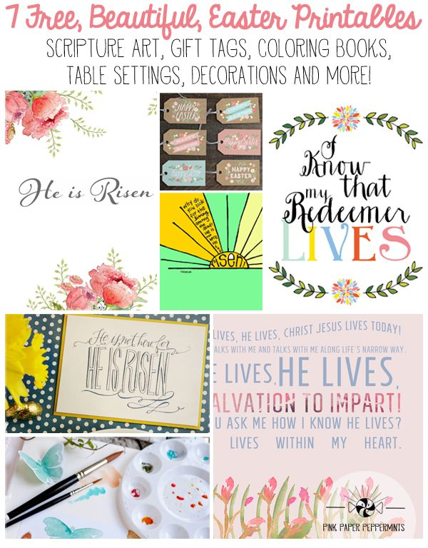 Scripture Art, Gift Tags, Tables Setting and more printables for ...