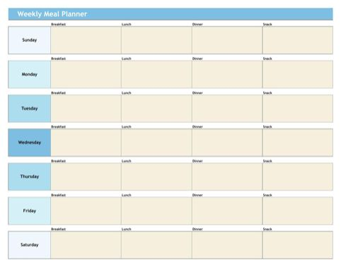 20+ [ Weekly Menu Planner Template Excel ] | 5 Marketing Campaign ...