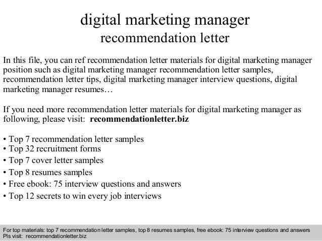 digital marketing manager resume contract digital marketing