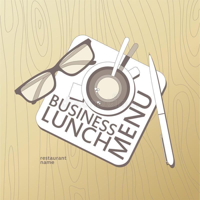 Business Lunch Menu Template. Stock Photos - Image: 22090773