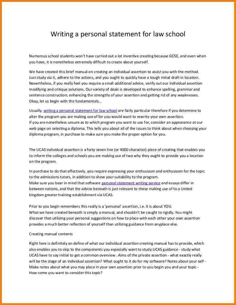 8+ Law School Personal Statement Examples | Attorney Letterheads