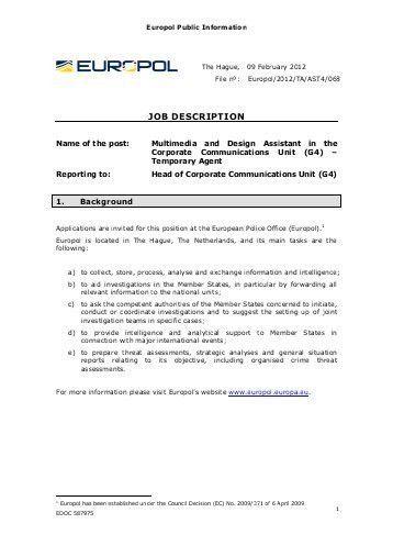 JOB DESCRIPTION Human Resource Specialist POSITION Human ...