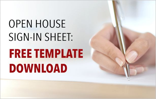 Real Estate Open House Sign-In Sheet: Free Template Download ...