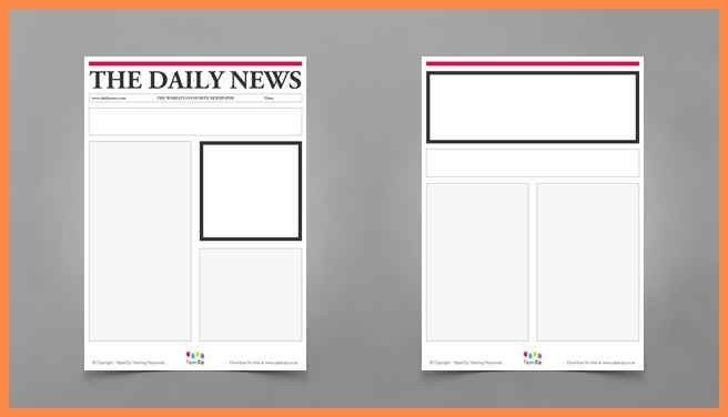 Newspaper Blank Template. newspaper template vectors photos and ...