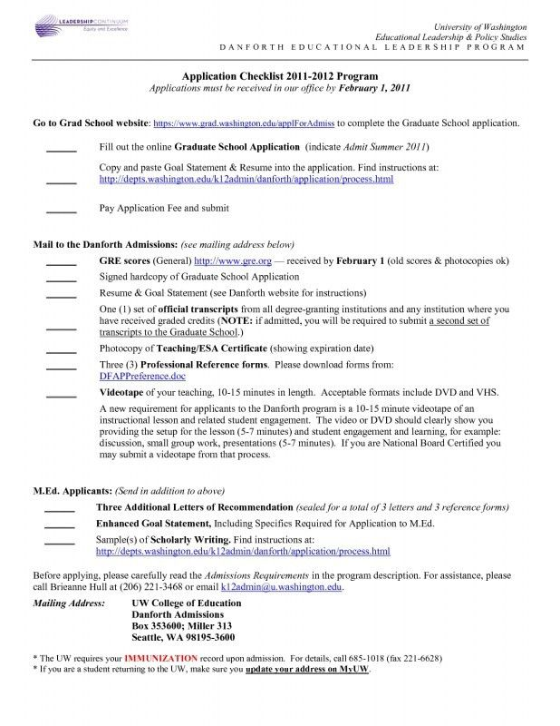Graduate School Admissions Resume - Best Resume Collection