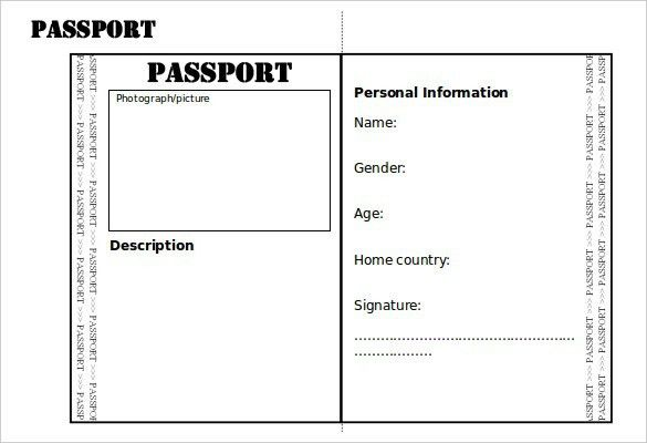 Passport Template Free. passport template 19 free word pdf psd ...