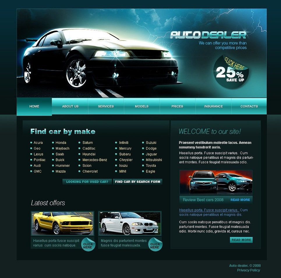 Car Dealer Website Template #20679