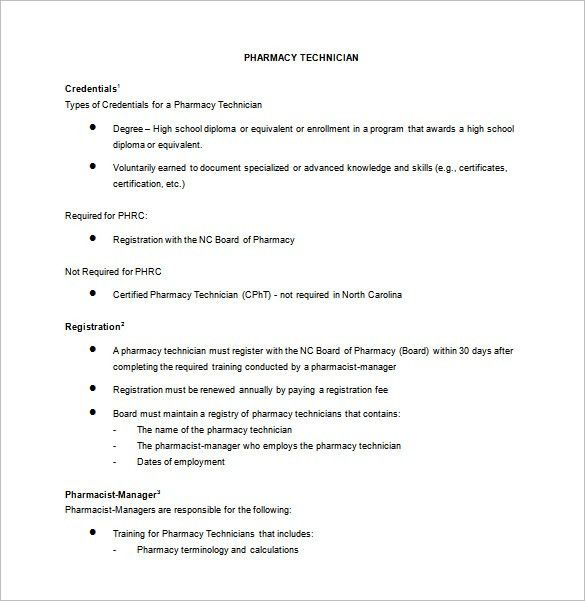 Pharmacy Technician Job Description Template – 8+ Free Word, PDF ...
