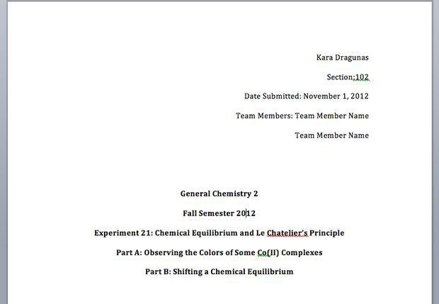 How to Write a General Chemistry Lab Report: 11 Steps