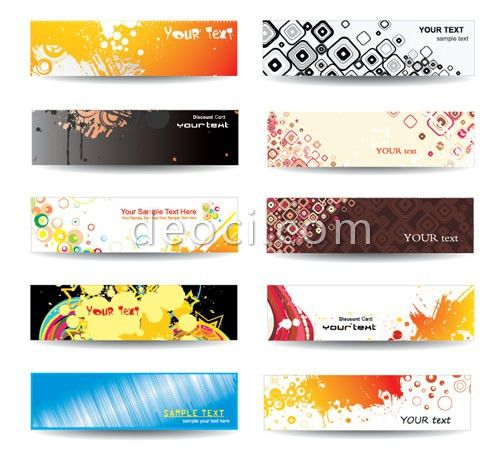 Abstraction popular Ink banner design templates Free EPS file for ...