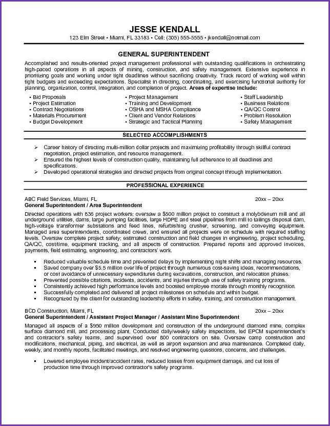 GENERAL RESUME EXAMPLES | Jobproposalideas.com