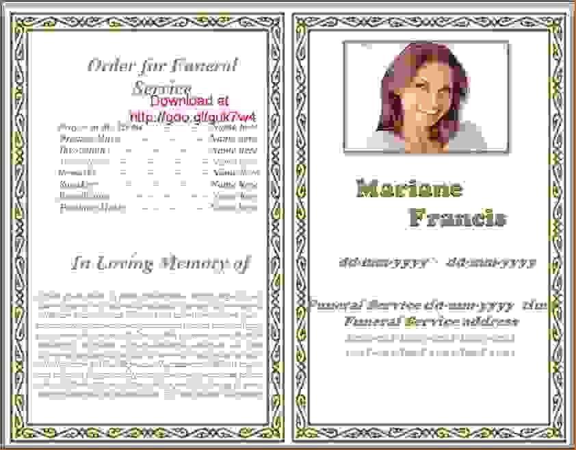 13 funeral pamphletAgenda Template Sample   Agenda Template Sample
