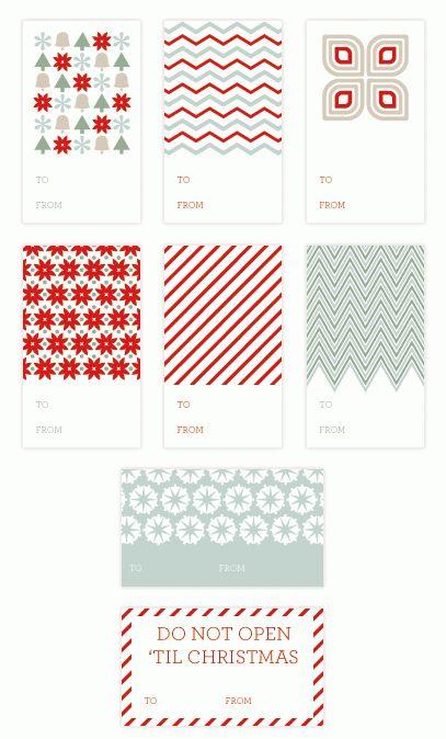 17 Free Printable Christmas Gift Tags | Tip Junkie