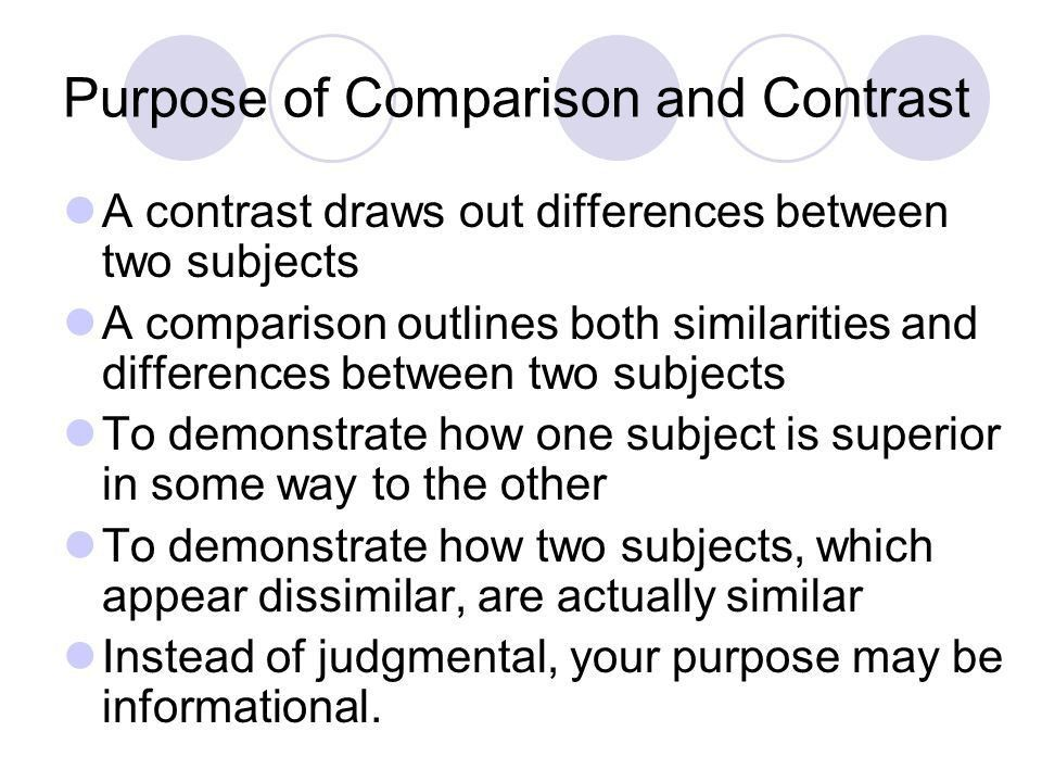 Outline for compare contrast essay