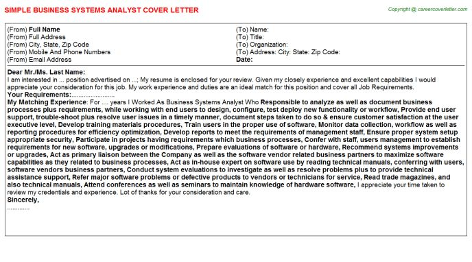 Business Systems Analyst Job Title Docs