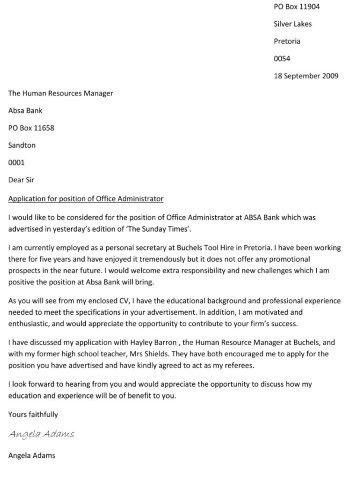 Help With Writing A Cover Letter | The Letter Sample