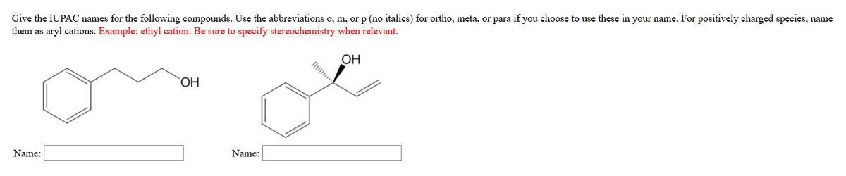 Give The IUPAC Names For The Following Compounds. ... | Chegg.com