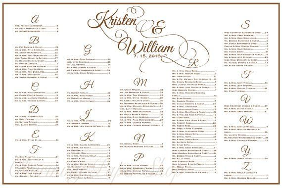 Wedding Seating Chart Template | http://webdesign14.com/