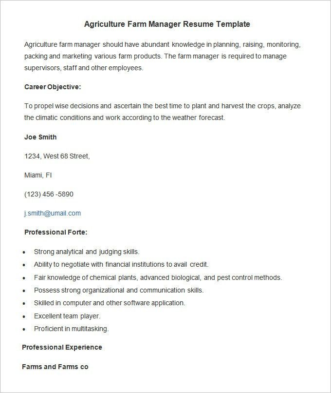 awesome farm and ranch management resume ideas guide to the. macy ...