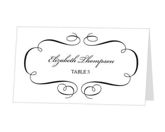 Place Card Template. Free Printable Place Cards Free Printable ...