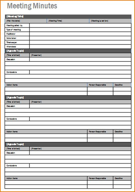 4+ meeting notes template | teknoswitch