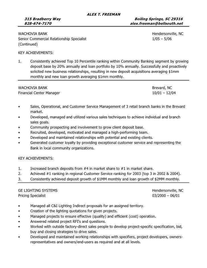 personal banker resume samples templates tips onlineresume ...