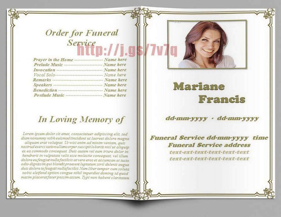 Funeral Program Template Word - Contegri.com