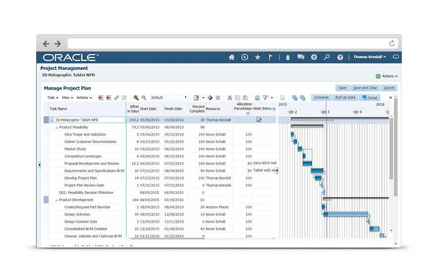 Project Management Cloud – Project Portfolio | Oracle