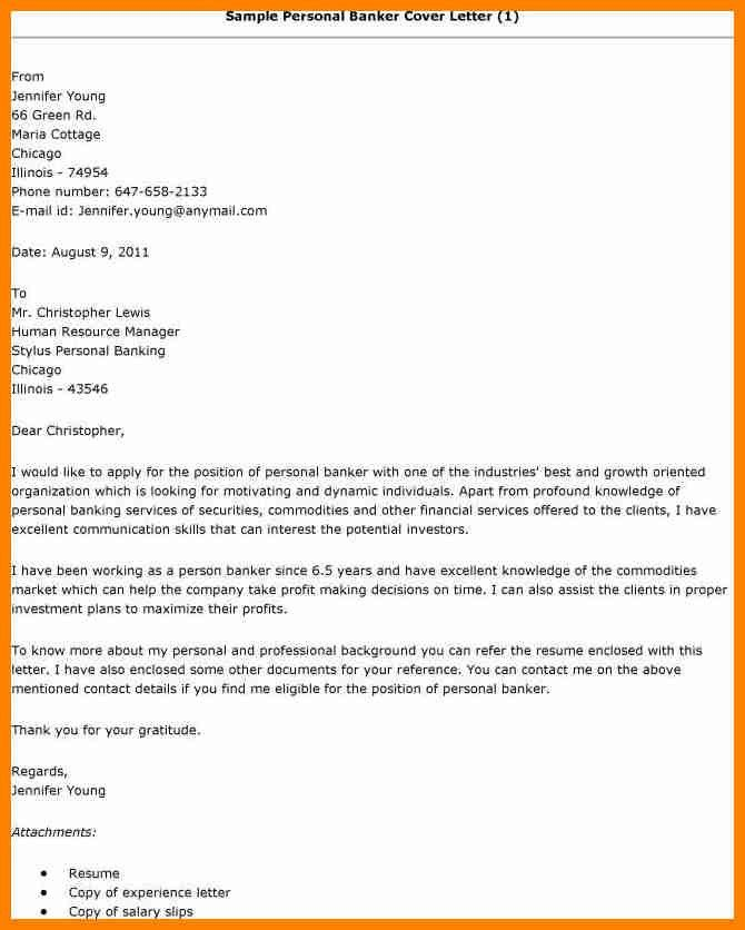 cover letter for personal banker job personal banker cover ...