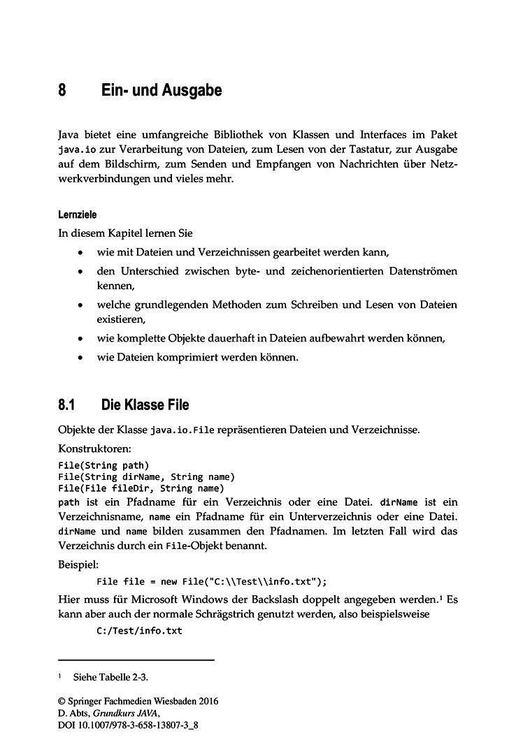Ein- und Ausgabe - Springer