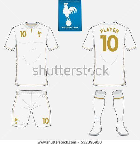 Set Long Sleeve Soccer Jersey Football Stock Vector 662219233 ...