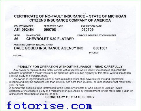 Nationwide Insurance Card Template - fotorise.com
