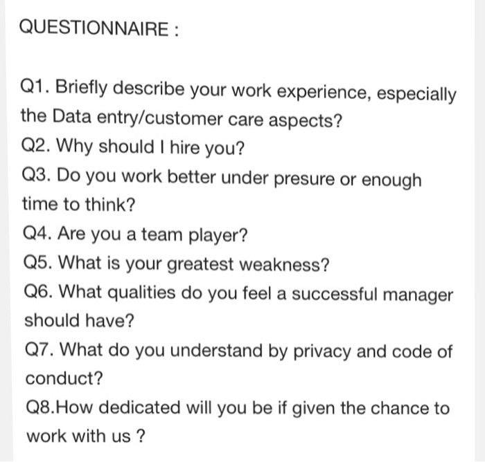 Briefly Describe Your Work Experience, Especially ... | Chegg.com