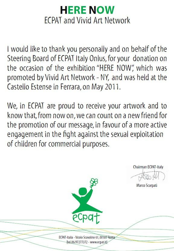 Elisha Ben-Yitzhak Receives Appreciation Letter From ECPAT ...