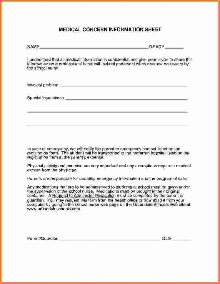 Free Printable Doctor Forms | Cvletter.csat.co