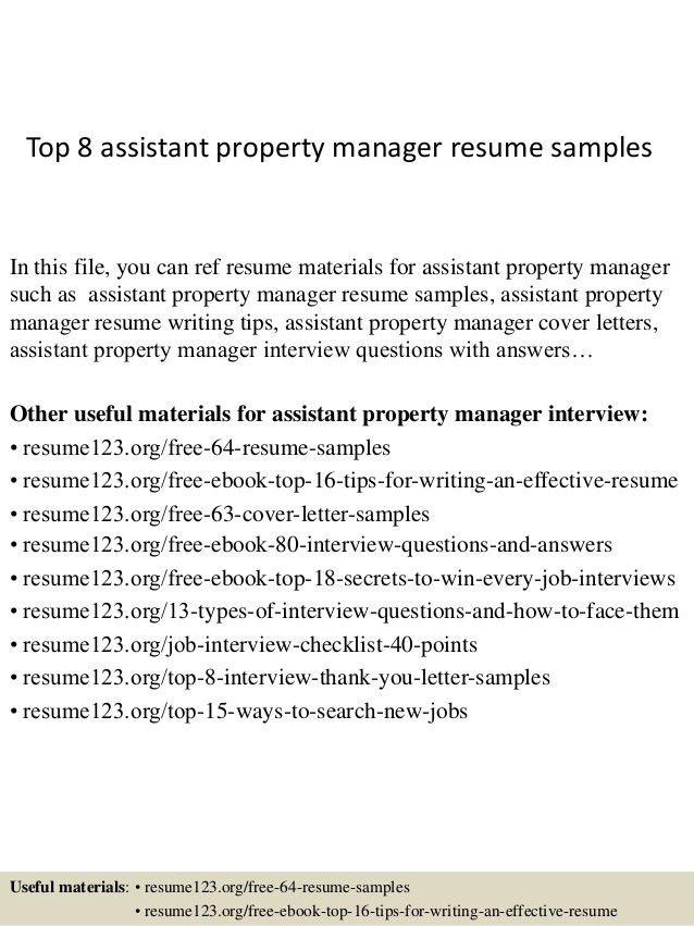 assistant property manager resume sample assistant manager resume - Sample Property Manager Resume