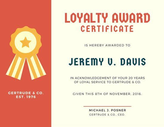 Award Certificate Templates - Canva