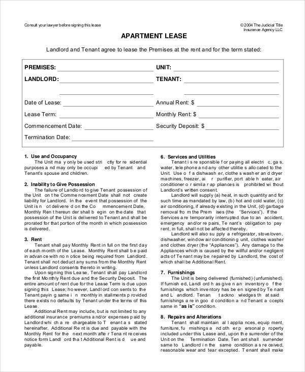 Lease Form - 9+ Free Word, PDF Documents Download | Free & Premium ...
