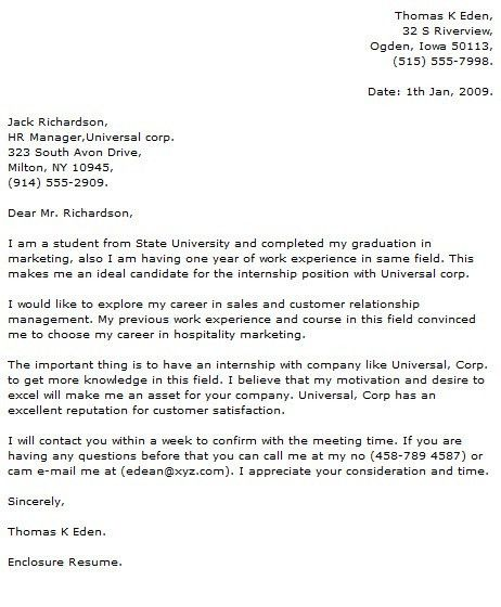 Cover letter for internship position criminal justice - Cover ...