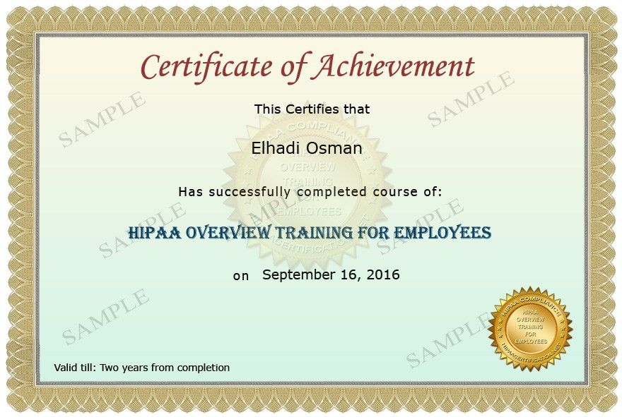 HIPAA Privacy Awareness and Security Training for Healthcare ...